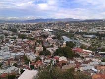 Старый взгляд Тбилиси грандиозный стоковое изображение