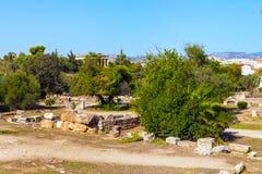 Старый взгляд агоры внутри, Афины, Греция Стоковые Фотографии RF