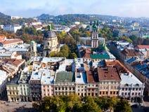 Старый взгляд городка, Львов Стоковые Фото