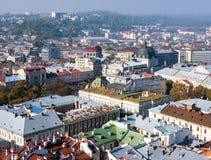 Старый взгляд городка, Львов Стоковые Фотографии RF
