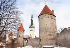 Старый взгляд Таллина, Эстония Стоковое Изображение