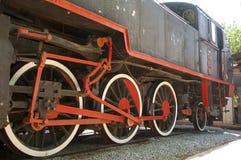 Старый двигатель в музее, Izmir, Турции стоковая фотография rf