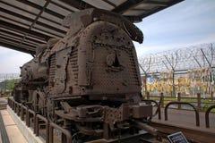 Старый двигатель в парке в DMZ, корейской республике Imjingak стоковая фотография rf