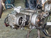 Старый двигатель мотоцикла Стоковая Фотография