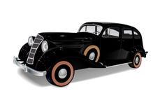 Старый винтажный автомобиль черного цвета Стоковые Изображения