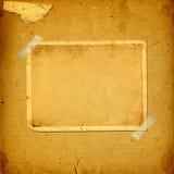 Старый винтажный альбом с бумажными рамками Стоковое Изображение