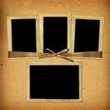 Старый винтажный альбом с бумажными рамками Стоковое Изображение RF