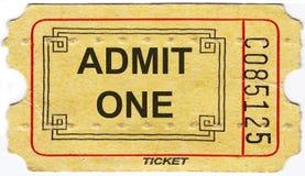 Старый винтажный бумажный билет с номером стоковое фото rf