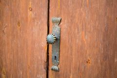 Старый винтажный конец ручки двери вверх Стоковое Изображение RF