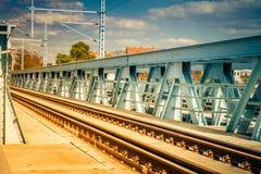 Старый винтажный мост металла стоковые фото