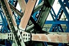Старый винтажный мост металла стоковая фотография rf