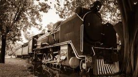 Старый винтажный поезд пара стоковое фото