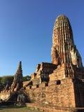 Старый висок загубленный Rama Ayutthaya стоковое изображение rf