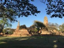 Старый висок загубленный Rama Ayutthaya стоковые изображения rf