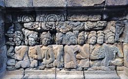 Старый висок Borobudur буддийский, East Java, Индонезия Стоковые Изображения