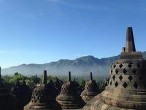 Старый висок Borobudur, древний город, историческая архитектура, буддийское вероисповедание стоковое фото rf