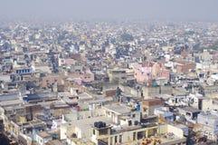 Старый вид на город Дели от верхней части Стоковые Изображения RF