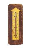 Старый внешний изолированный термометр Стоковые Изображения