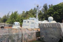 старый военный корабль Стоковая Фотография RF