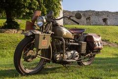 Старый воинский мотоцикл от WWII Стоковые Фото