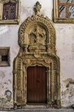 Старый дворец двери в Коимбре Стоковые Фотографии RF