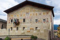 Старый дворец в Cavalese стоковое изображение