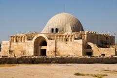 Старый дворец на цитадели Аммана Стоковое Изображение RF