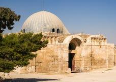 Старый дворец на цитадели Аммана Стоковые Изображения RF