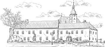 старый дворец иллюстрация вектора