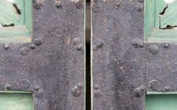 Старый дворец Gyeongbokgung шарнира двери Стоковые Изображения