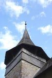 Старый восьмиугольный деревянный Steeple стоковое изображение