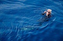 Старый водолаз плавает, (Koh Дао, Chumphon) Стоковое Изображение