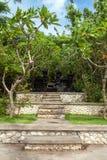 Старый вход индусского виска в Uluwatu стоковое изображение rf