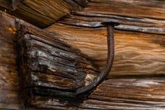 Старый выкованный ноготь стоковое изображение