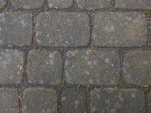 старый вымощая малый городок улицы камней Стоковые Фото