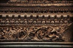 Старый высекать декоративного камня римского стиля стоковые изображения