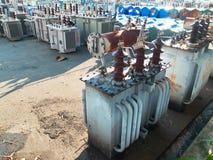 старый высоковольтный трансформатор Стоковое фото RF