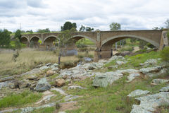 Старый вышедший из употребления железнодорожный мост, Palmer, южная Австралия Стоковые Изображения
