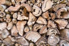 Старый выдержанный woodpile стоковое изображение rf