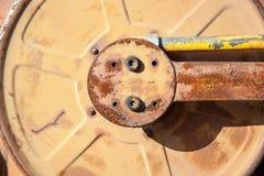 Старый вьюрок шланга металла Стоковая Фотография