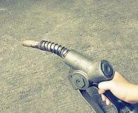 Старый газовый насос (винтажный добавленные стиль и шум влияния) Стоковые Изображения