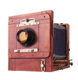 Старый год сбора винограда камеры на белизне стоковые изображения rf
