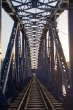 Старый год сбора винограда моста пути рельса Стоковые Изображения RF
