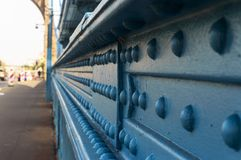 Старый голубой мост дня Стоковые Изображения RF
