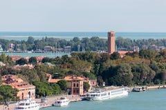 Старый городок Венеции Взгляд от колокольни Колокольни di Сан Marco в Вероне, Италии Стоковое Изображение RF