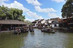 Старый городок в восточном Китае - Xitang стоковые фотографии rf
