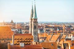 Старый городок в городе Nurnberg, Германии стоковые изображения rf