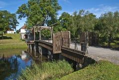 Старый городок в fredrikstad (footbridge) Стоковое Изображение