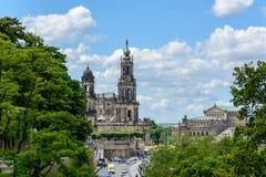 Старый городок Дрездена, Германии, Саксонии стоковая фотография