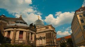 Старый городок Дрездена - крыш барочных зданий красных домов на t Стоковые Фотографии RF